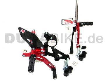 rearset black/red Ducabike for Ducati Monster 696 796 1100 – Image 4