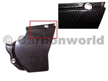 sprocket cover (closed version) carbon for Ducati – Image 1