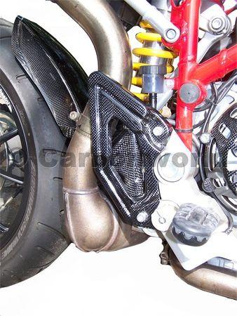 heelguards mono carbon for Ducati Hypermotard – Image 3