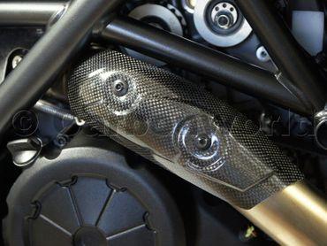 protezione calore in carbonio opaco  per Ducati Diavel – Image 6