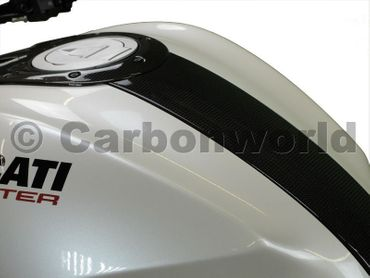 tank guard low carbon for Ducati Monster – Image 2
