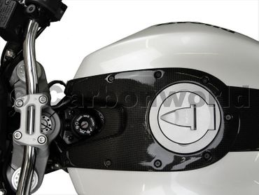 tank guard carbon for Ducati Monster – Image 2
