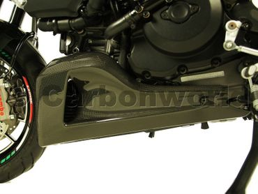 belly pan carbon for Ducati Diavel – Image 3