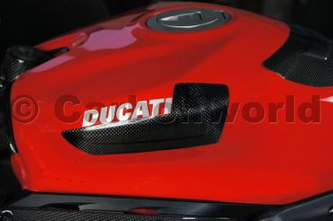 carbon fiber tank guard small for Ducati 899 959 1199 1299 Panigale – Image 2