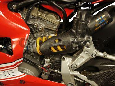 Cover en carbone amortisseur arrière corse mate pour Ducati 1199 S, 1299 S Panigale – Image 2