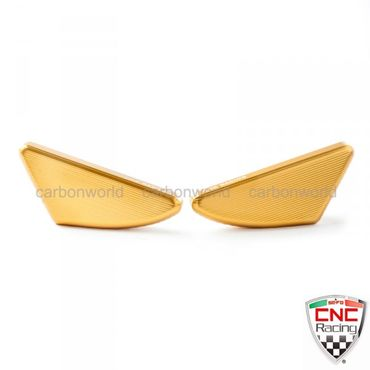 Mirror hole caps gold CNC Racing  for Ducati Panigale – Image 1