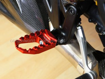 Touring pegs red CNC Racing for Ducati Diavel – Image 2