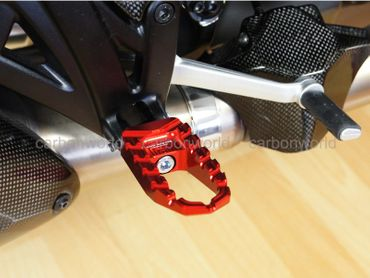 Touring pegs red CNC Racing for Ducati Diavel – Image 3