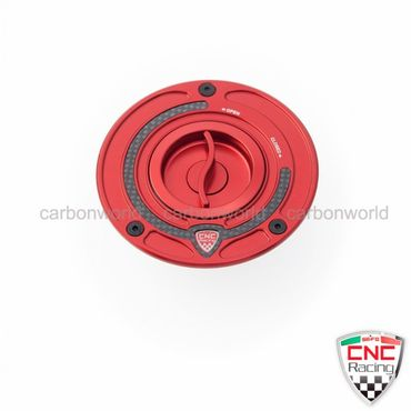 Fuel tank cap red CNC Racing for Ducati – Image 1