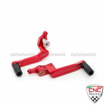 Brake Lever and clutch lever adjustable red CNC Racing for Ducati Panigale