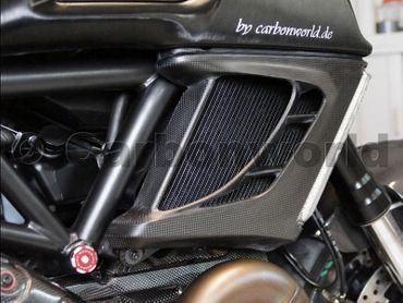 Protège radiateur en carbone mate pour Ducati Diavel – Image 5