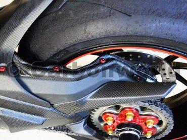 capot de câble bras oscillant carbone mate pour Ducati 1199 1299 Panigale – Image 2