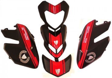 decal sticker kit Evo Corse red for Ducati Hypermotard – Image 2