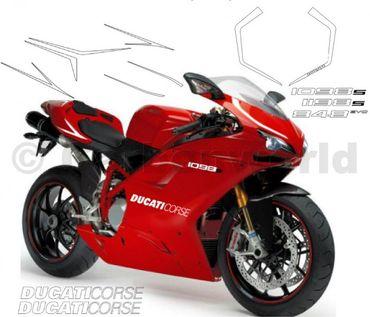 Aufklebersatz Evolution silber für Ducati 848 1098 1198 – Bild 1