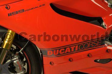 Aufklebersatz Seitenverkleidung Corse carbon für Ducati Panigale