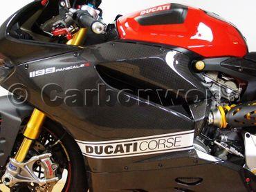 Aufklebersatz Seitenverkleidung Corse silber für Ducati Panigale