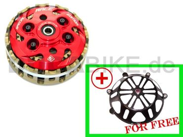 embrayage anti-dribble 4 ressorts rouge Ducabike pour Ducati – Image 1