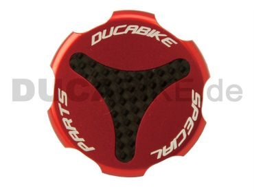 rear fluid reservoir caps red kit Ducabike for Ducati – Image 1