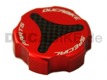 rear fluid reservoir caps red kit Ducabike for Ducati – Image 2