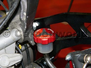 rear fluid reservoir caps red kit Ducabike for Ducati – Image 3