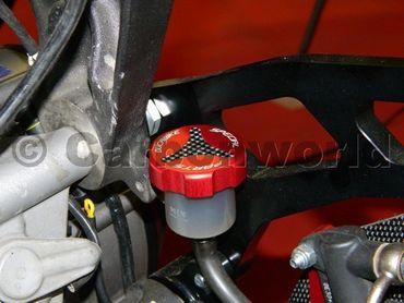 Flüssigkeitsbehälterdeckel hinten rot Ducabike für Ducati – Bild 3