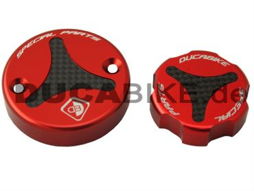 Fluid reservoir caps kit red Ducabike for Ducati – Image 2