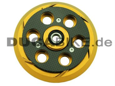 Druckplatte gold/carbon Ducabike für Ducati CNC gefräst