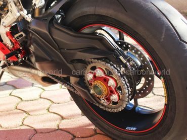 chain sprocket carrier red Ducabike for Ducati – Image 2
