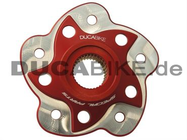 chain sprocket carrier red milled Ducabike for Ducati – Image 1