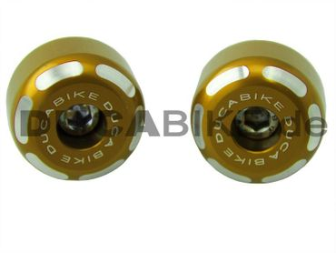 Handlebar caps gold Ducabike for Ducati – Image 1