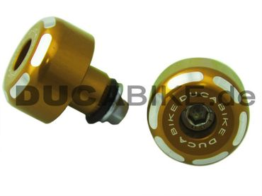 Handlebar caps gold Ducabike for Ducati – Image 2