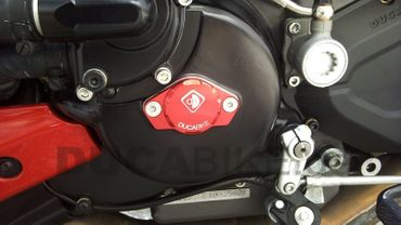engine cover anodized red Ducabike for Ducati – Image 2