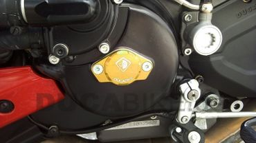 engine cover anodized gold Ducabike for Ducati – Image 2
