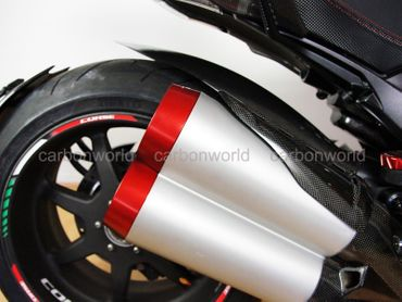 Protection silencioux rouge Ducabike per Ducati Diavel – Image 3