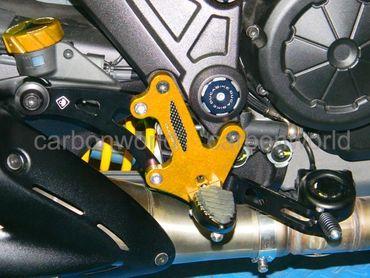 Fußrastenanlage gold Ducabike für Ducati Diavel – Bild 3