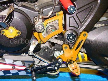 Pedana regolabili oro Ducabike per Ducati Diavel – Image 2