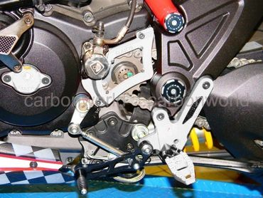 adjustable rearsets silver Ducabike for Ducati Diavel – Image 2