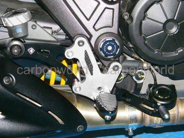 Fußrastenanlage silber Ducabike für Ducati Diavel – Bild 3