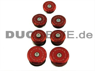frame cap Kit red Ducabike for Ducati 848 1098 1198 – Image 1