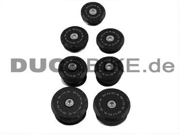 Rahmenstopfen Set schwarz Ducabike Ducati 848 1098 1198