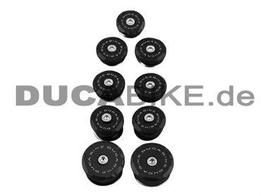 Rahmenstopfen Kit schwarz Ducabike für Ducati Streetfighter