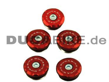 tappi telaio kit rosso Ducabike per Ducati Hypermotard – Image 1