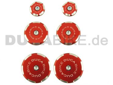Rahmenstopfen Kit rot Ducabike für Ducati Multistrada 1200 – Bild 1