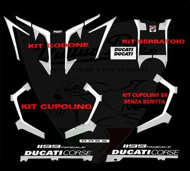"decal sticker kit ""R Version"" white for Ducati 899 1199 Panigale – Image 2"