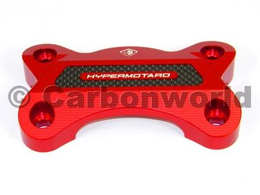 Handlebar clamp red Ducabike for Ducati Hypermotard 821 – Image 2