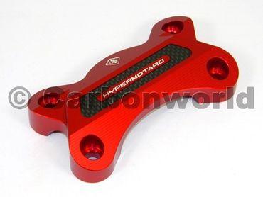 Handlebar clamp red Ducabike for Ducati Hypermotard 821 – Image 1