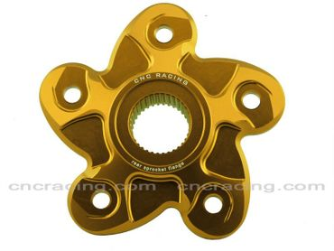 rear sprocket flange gold CNC Racing for Ducati Streetfighter 848, SBK 848 – Image 1