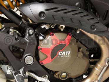 clutch cover racing red Ducabike for Ducati – Image 3