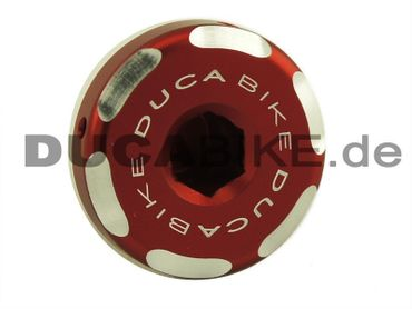 Oilcap red Ducabike for Ducati Diavel, Monster, MTS, Hypermotard – Image 1