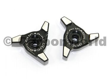 Windscreen adjusters-exagon black Ducabike for Ducati Multistrada 1200